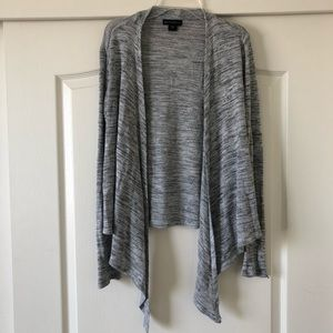 metaphor gray lightweight knit cardigan
